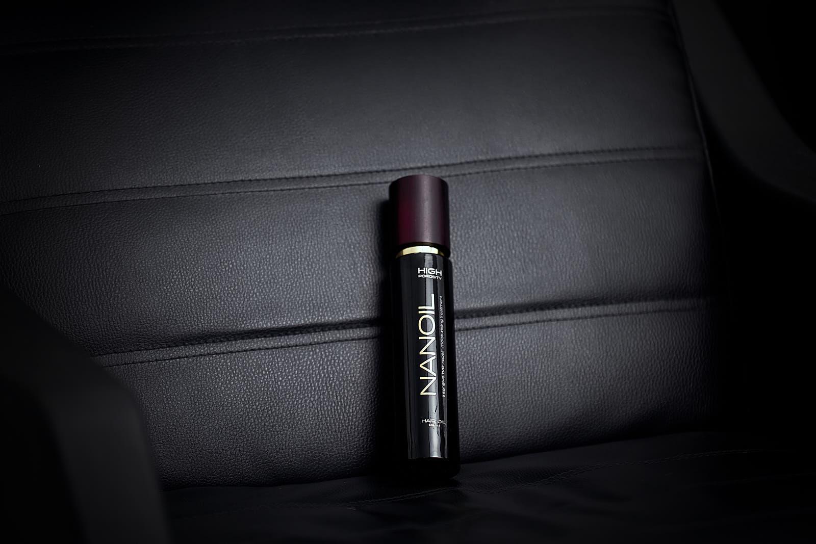 effective hair oil Nanoil high porosity